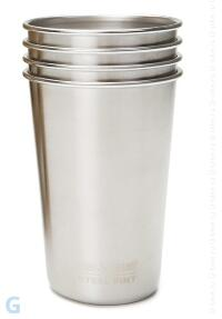 Набор стаканов Klean Kanteen PINT CUP 473 мл (16oz) Brushed Stainless (4 шт.)
