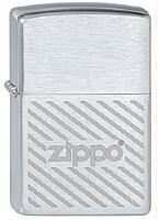 Зажигалка ZIPPO Stripes, Brushed Chrome
